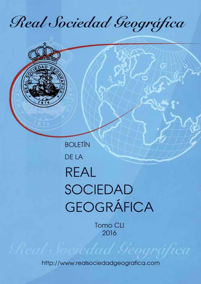 Boletín RSG Tomo CLI (2016)